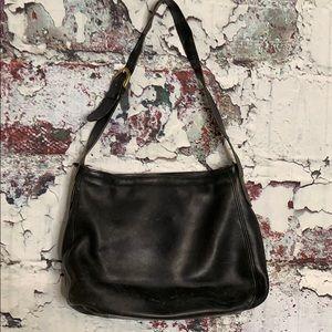 Coach vintage black leather purse